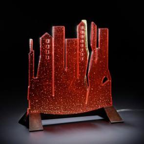 Lampade speciali realizzate con led e foglie d'oro e vetro di Murano