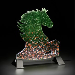 Cavallo realizzato in vetro di murano/ Design maestro vetraio Leo Zaff