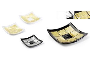 Design italiano per formelle fatte in vetro di Murano piatti e vassoi